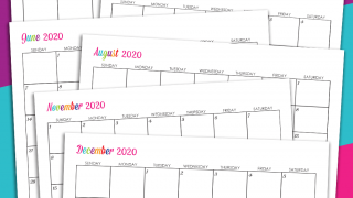 Editable 2020 Free Printable Calendars