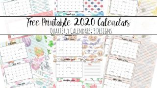 Free Printable 2020 Quarterly Calendars