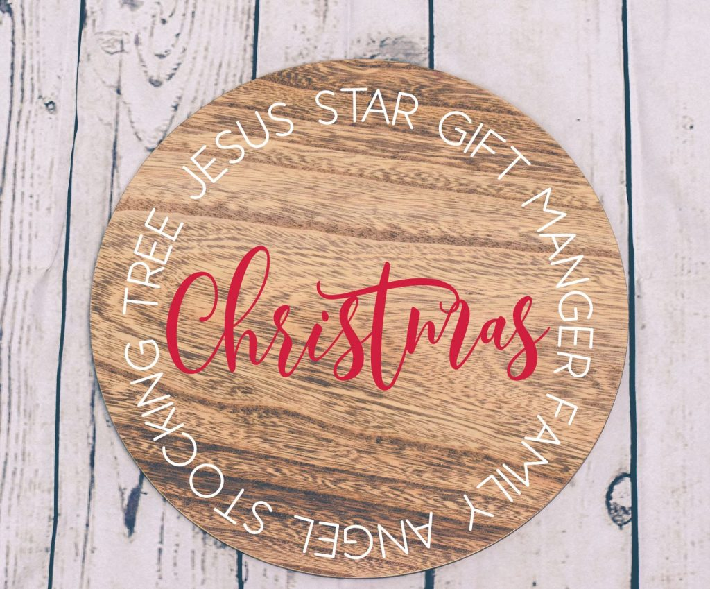 Christmas Round Sign SVG