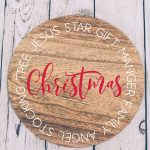 Christmas Round Sign