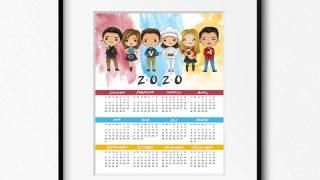 Free Printable 2020 FRIENDS Calendar