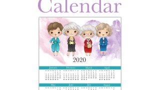Free Printable 2020 Golden Girls Calendar