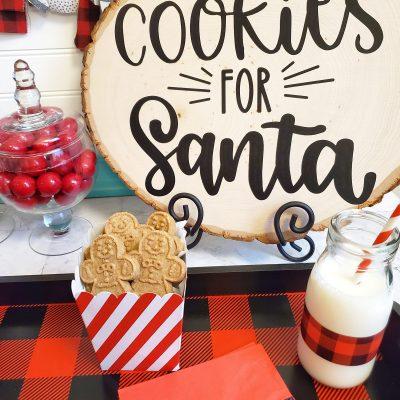 Plaid Cookies for Santa