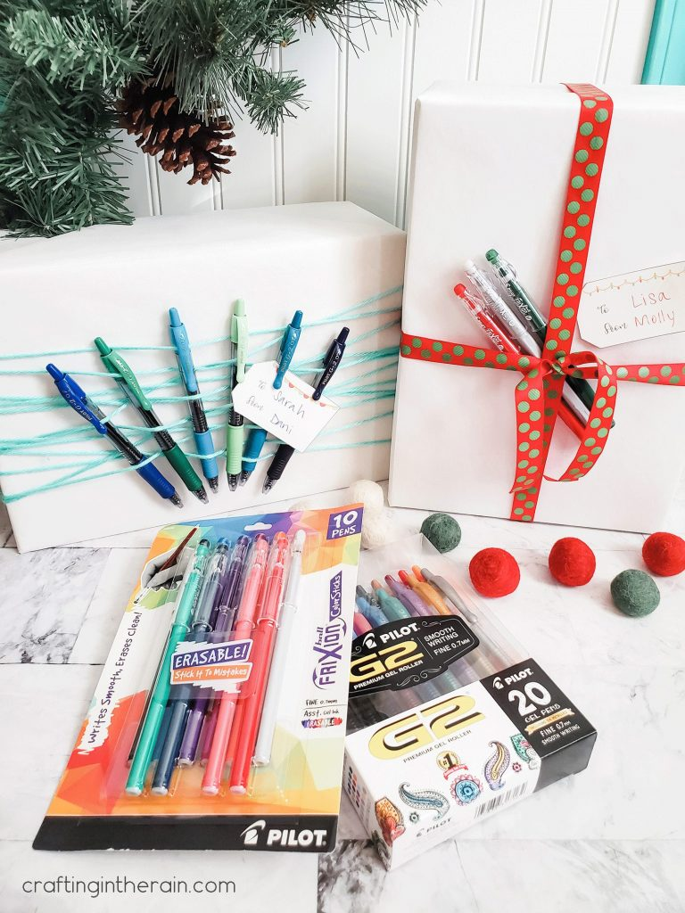 Creative wrapping with pens