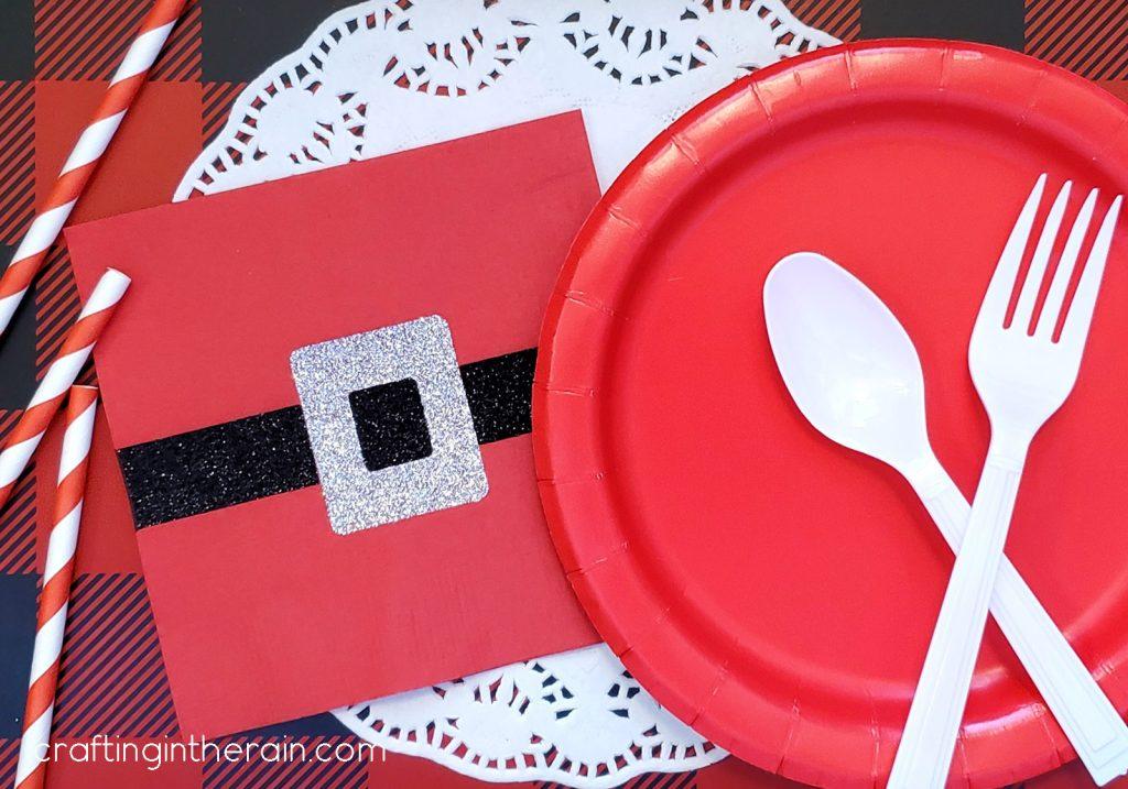 DIY Santa napkins