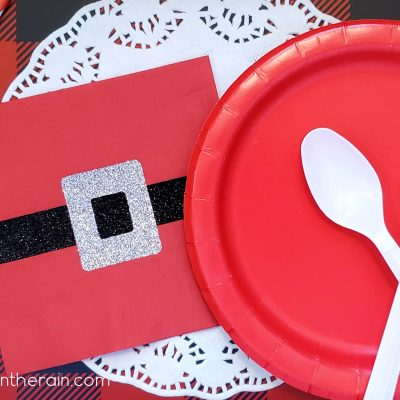 Santa Belt Napkins with Iron-on Vinyl