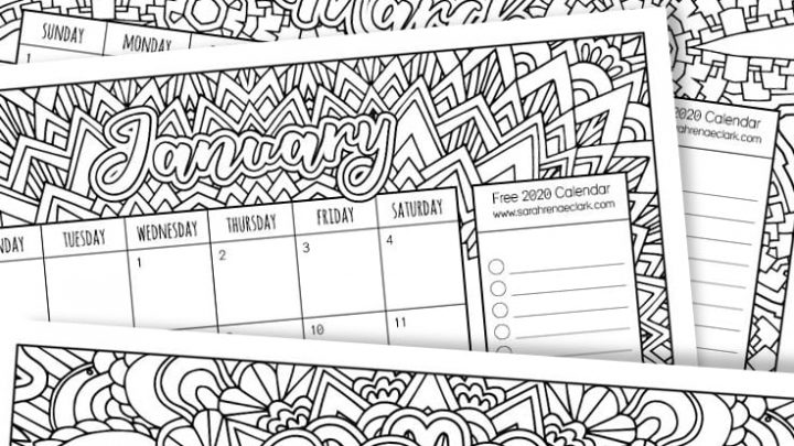 Free 2020 Printable Calendars - Crafting in the Rain