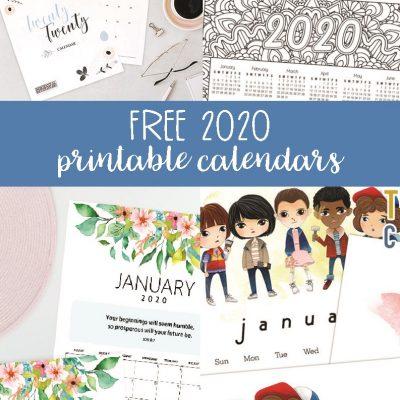 Free 2020 Printable Calendars