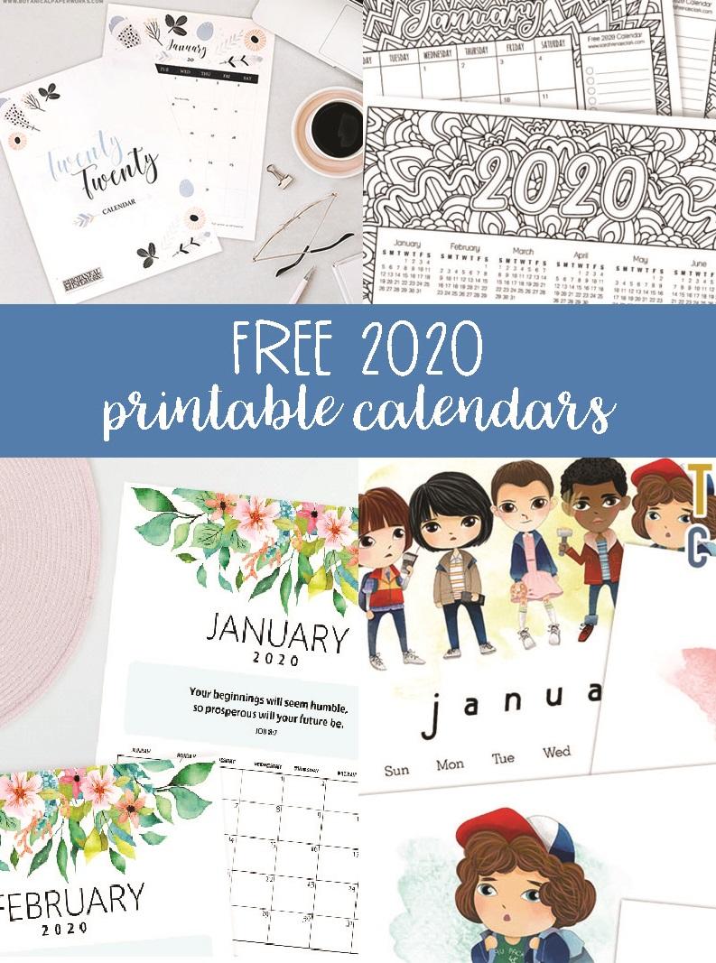 30+ Free Printable Wall Printable Calendar September 2020 Background