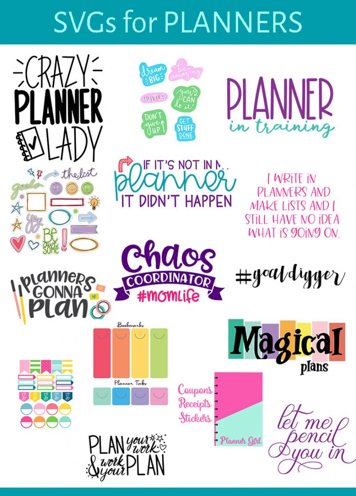 Free planner svgs