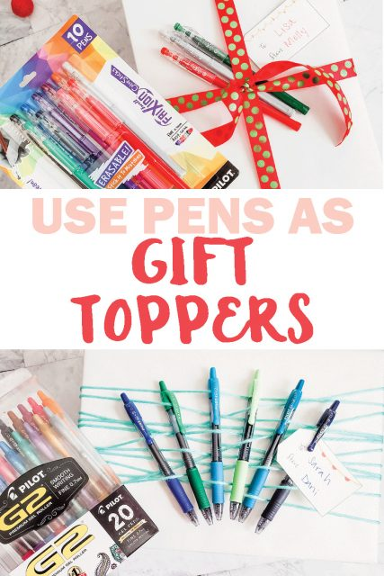 Pen gift toppers