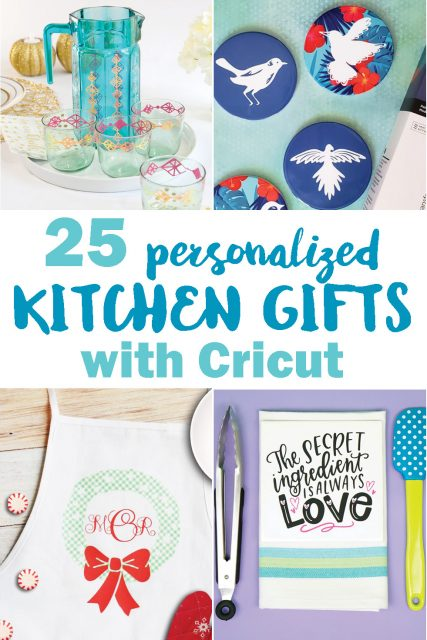 Personalized kitchen gifts with Cricut