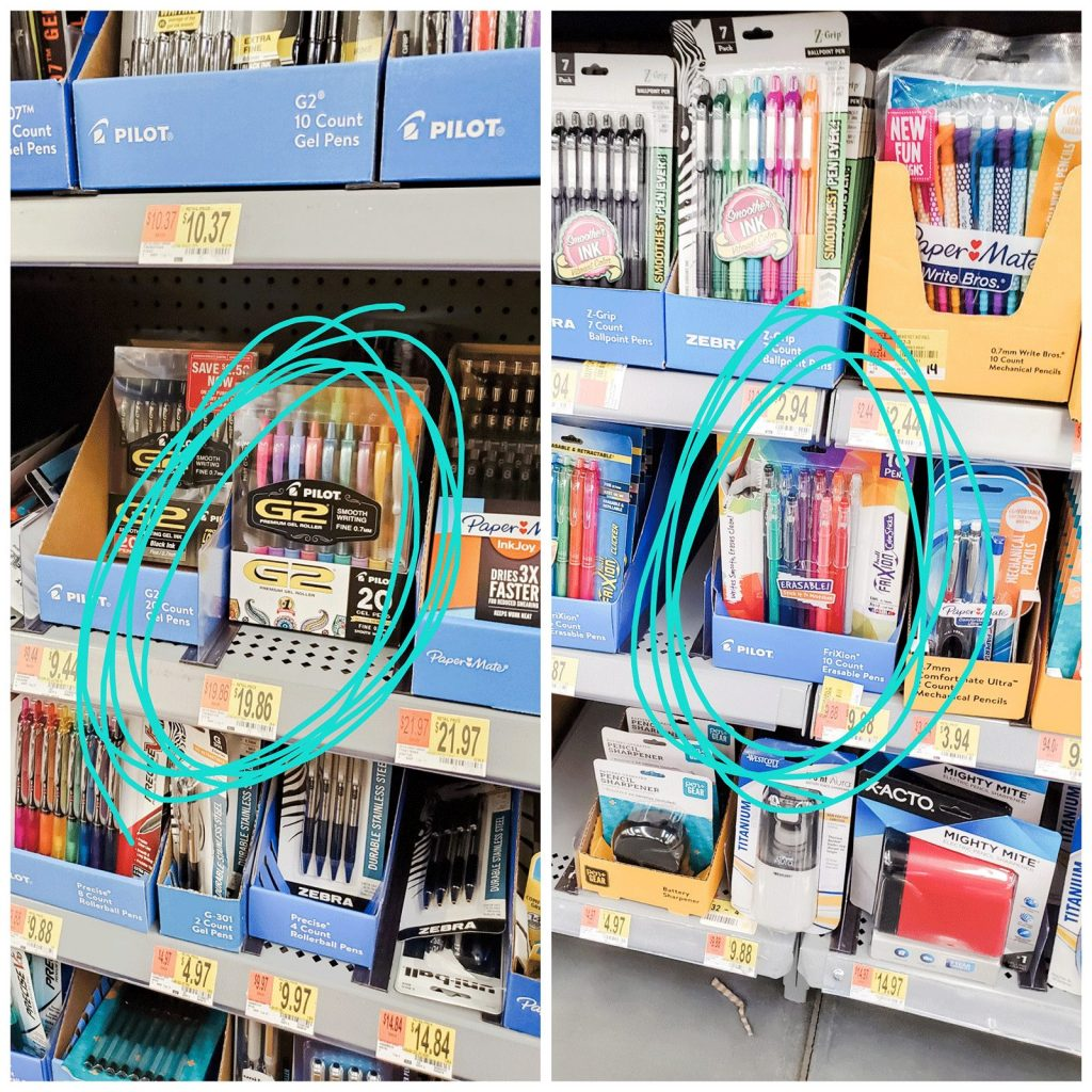 pilot pens at Walmart