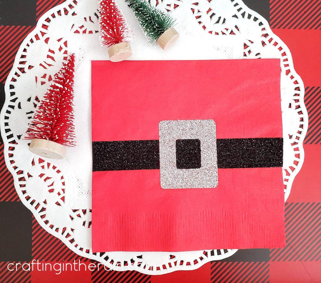 Santa belt napkin