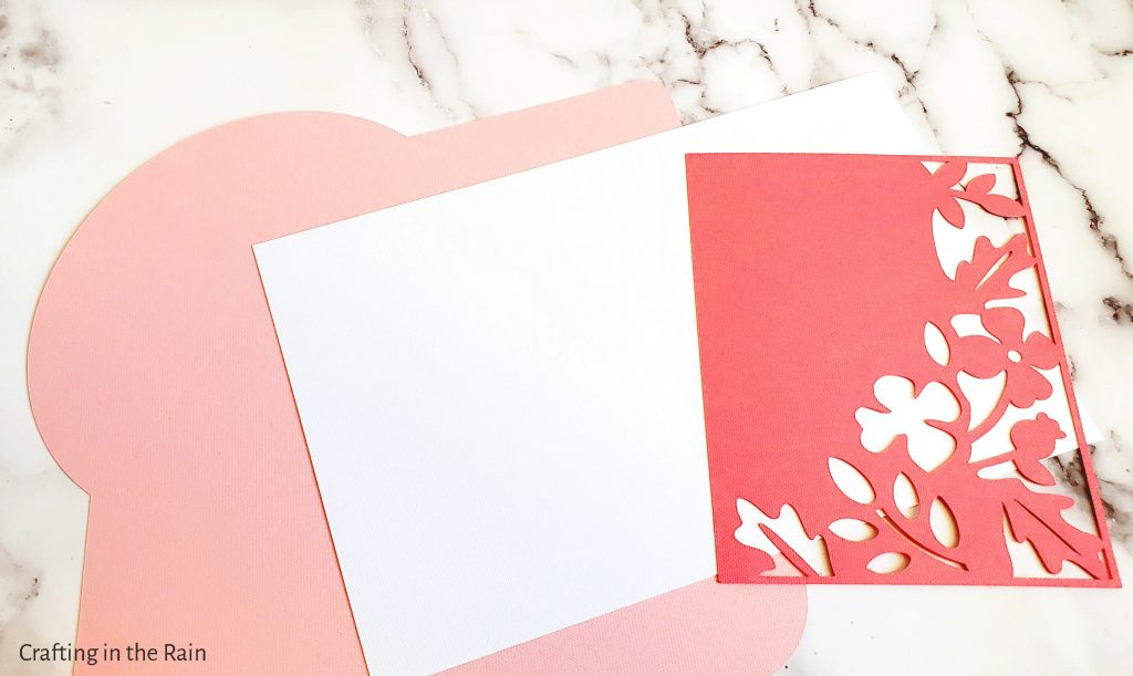 Assemble easy Cricut card