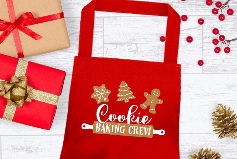 Cricut Christmas apron