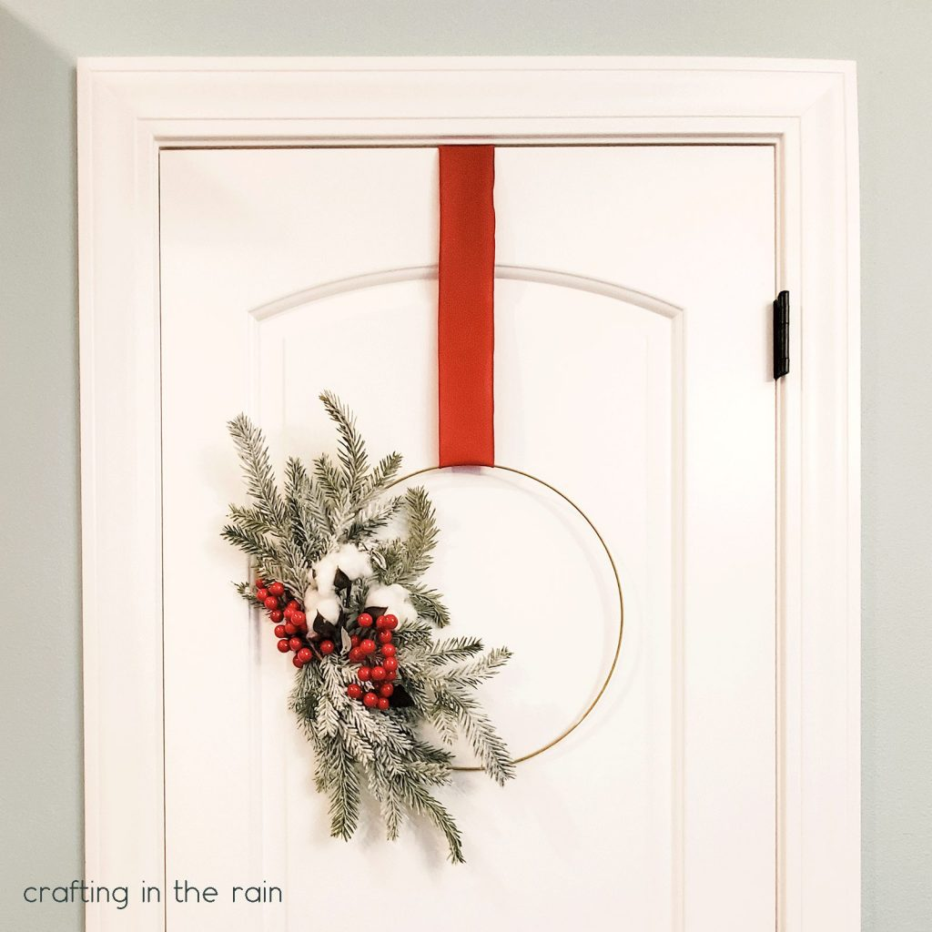 Hang wreath on pantry door