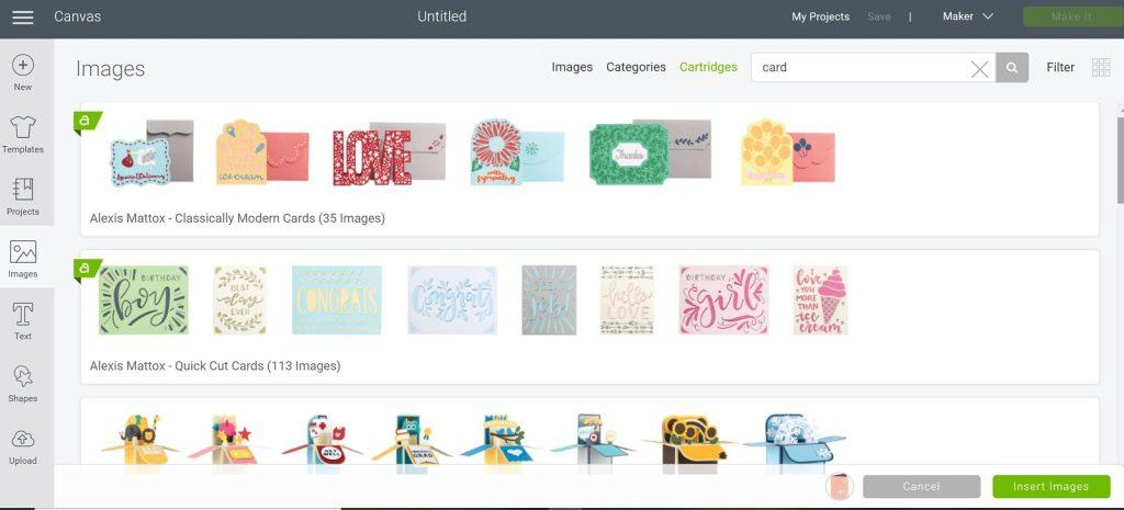 Find cards in Design Space