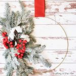 Christmas Wire Hoop Wreath