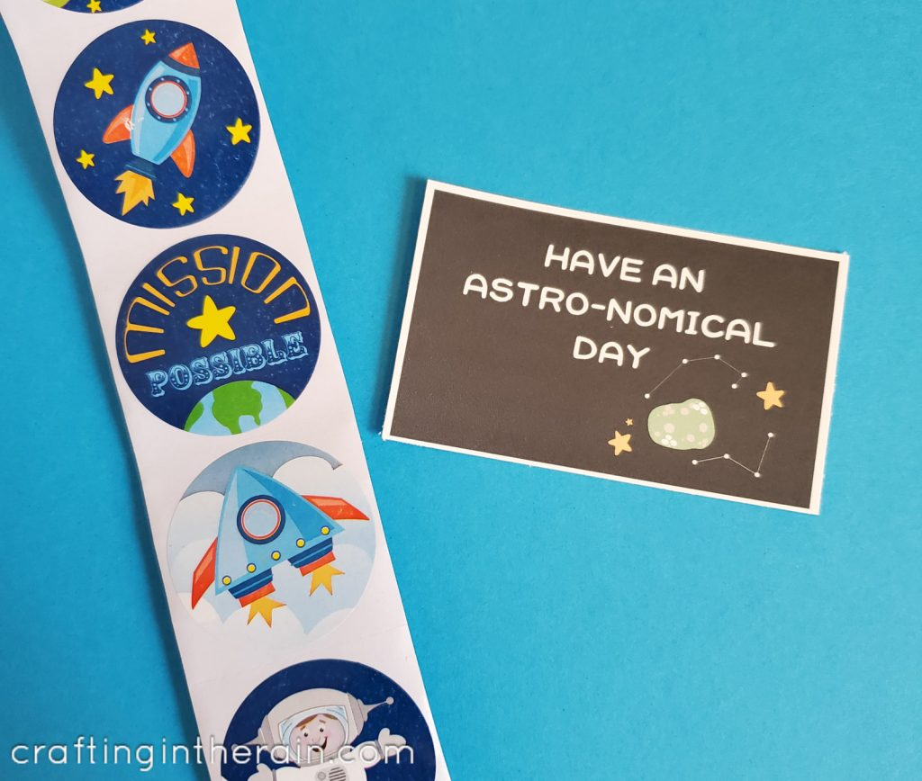 Astronomical valentine stickers