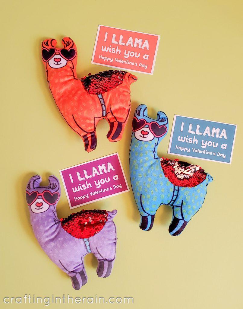 Valentine llama tags