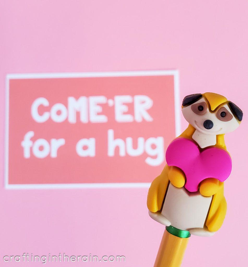 Meerkat topper valentine