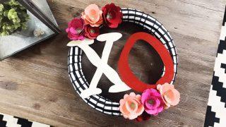 DIY XO Valentine's Day Wreath