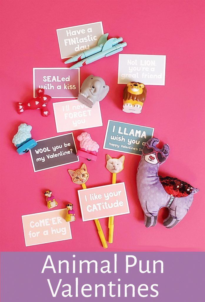Cute animal Valentine handouts