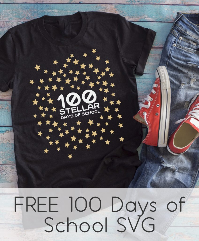 Free 100th day of school star shirt