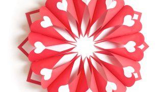 Paper Valentine Wreath