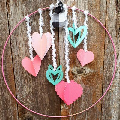 Cricut Valentine's Day Wreaths