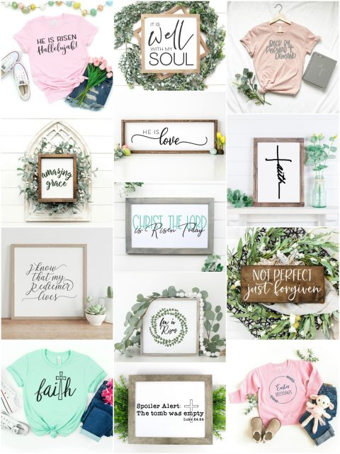 religious easter signs