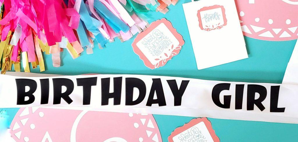 DIY birthday girl sash