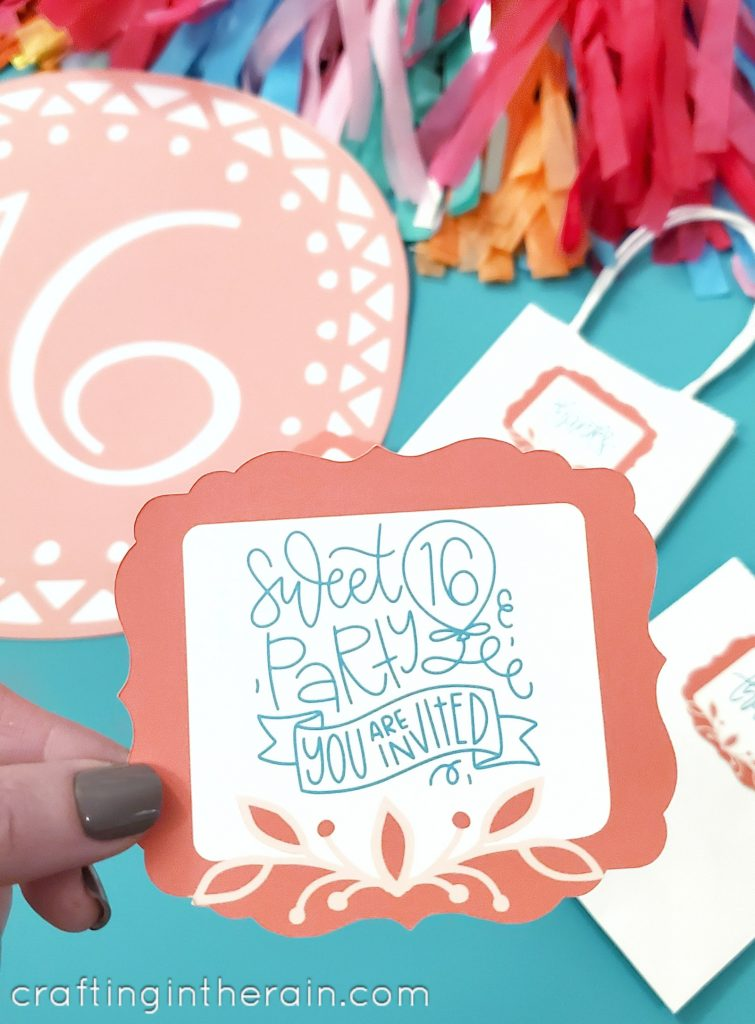 print then cut invitation