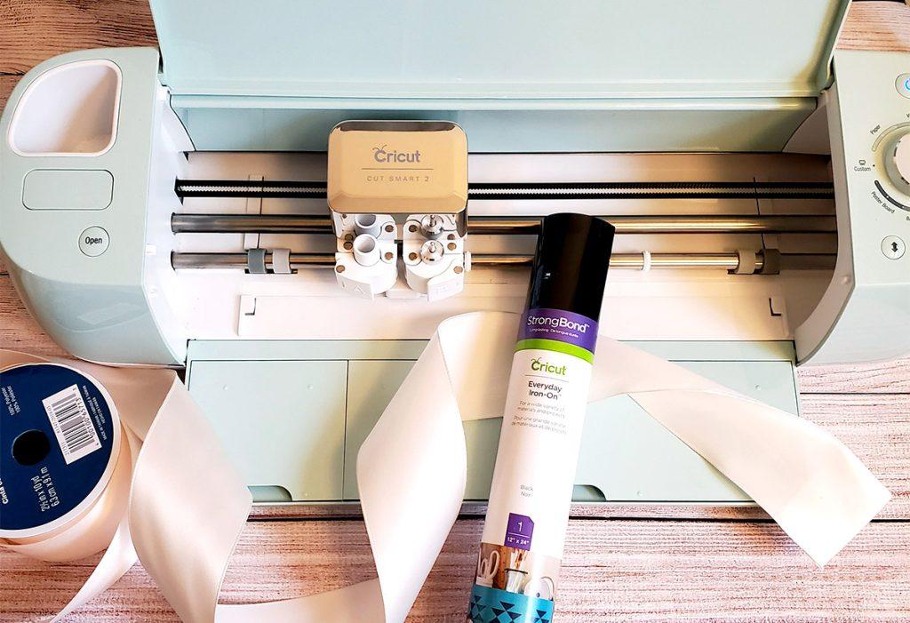 supplies for making a ribbon sash