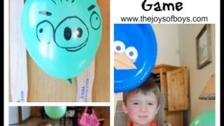 Angry Birds Paddle Balloon Game