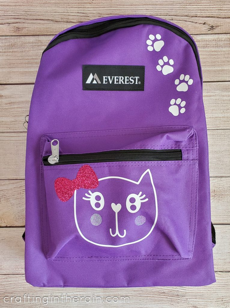 Custom cat back pack