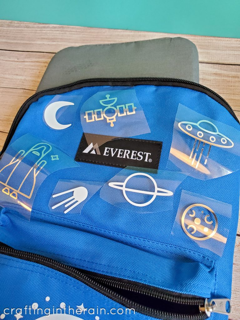 Decorated space backpack