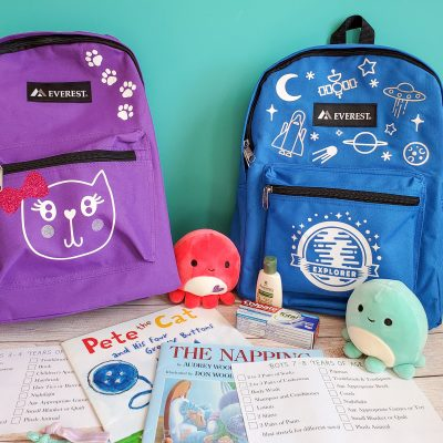 Backpacks with Cricut Iron on