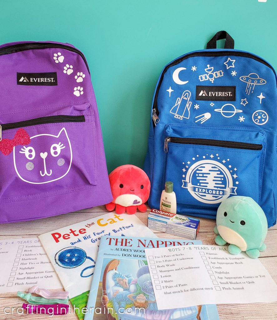 Foster care backpacks