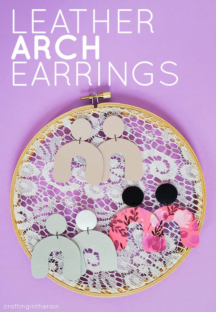 How to make arch leather earrings