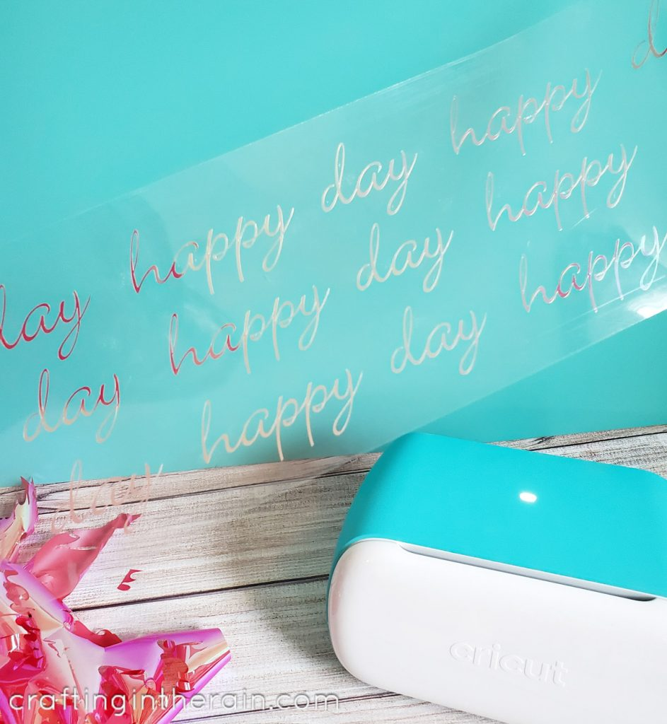 Cricut Joy cut iron on