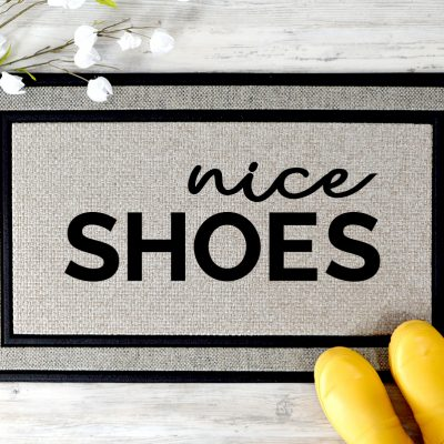 Nice Shoes Doormat SVG