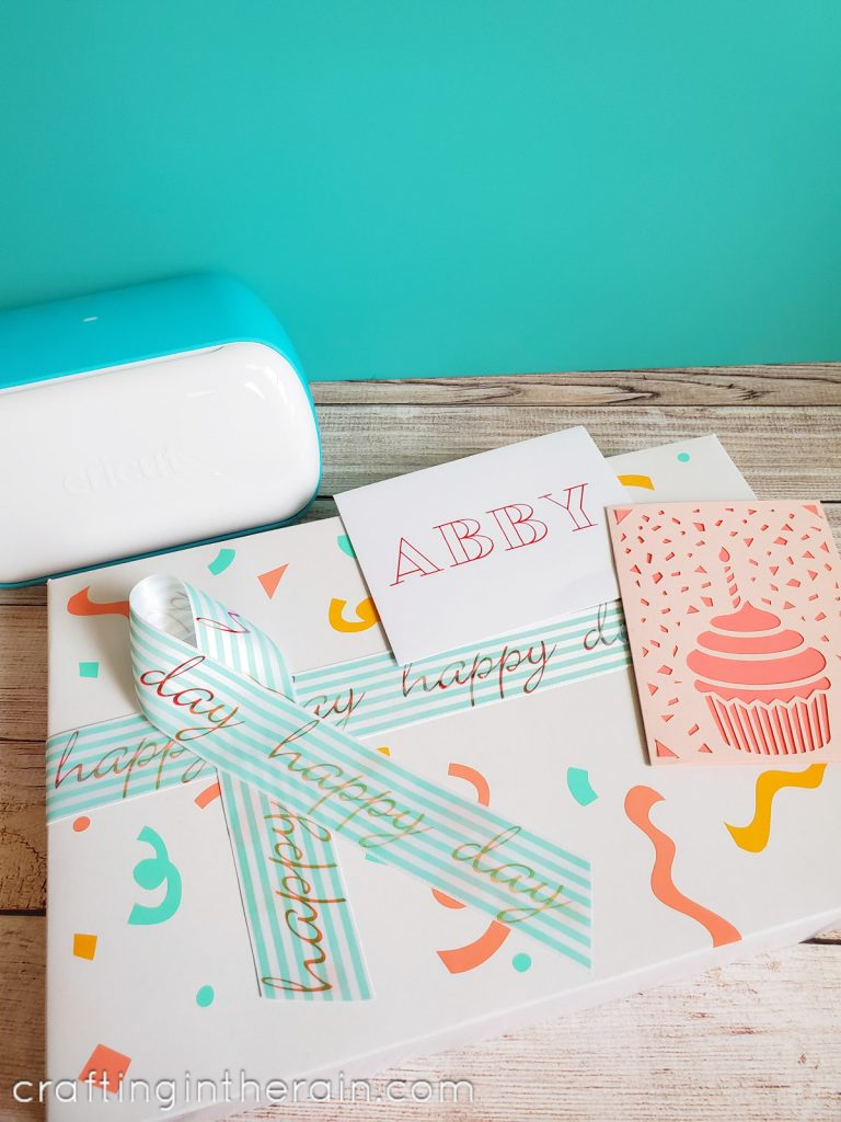 Custom gift wrap with Cricut