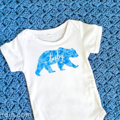 Infusible Ink Sheet on a Onesie