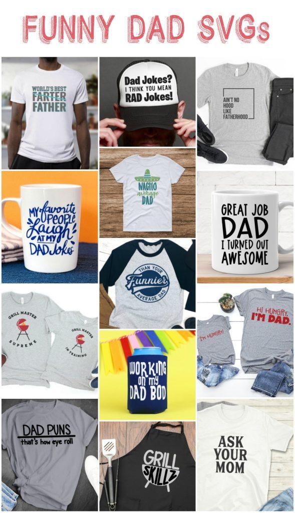 Free dad svg options