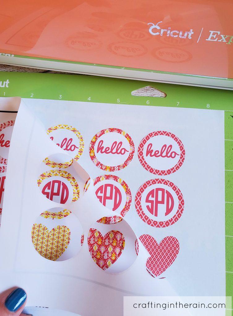 Cricut explore make stickers