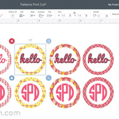 Pattern Fill in Cricut Design Space
