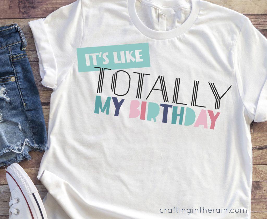 Free birthday svg shirt