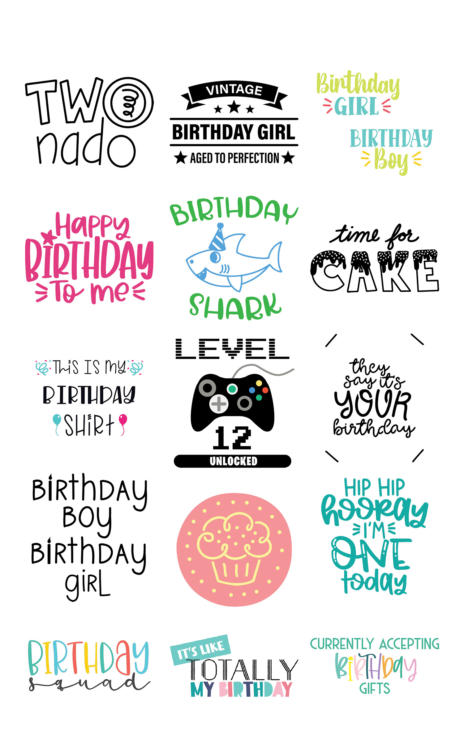 Free svgs for birthdays